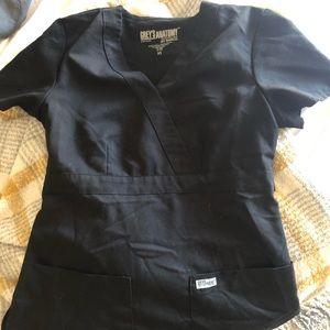 Greys Anatomy black scrub top